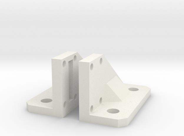 Light Bar mounts for GearHead lightbars  in White Natural Versatile Plastic