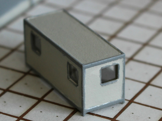 N Scale Site Office in White Natural Versatile Plastic