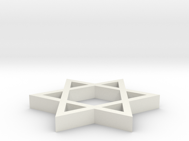 A simple Davids star emblem (Magen David in White Strong & Flexible