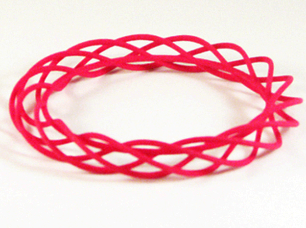 Twist Bangle A01M in Pink Strong & Flexible Polished