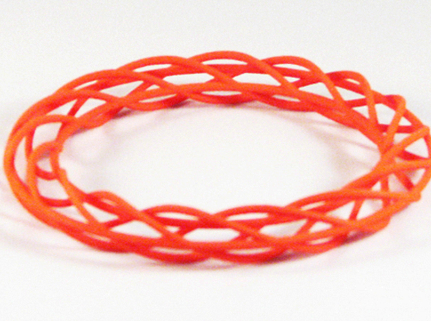 Twist Bangle A02L in Orange Strong & Flexible Polished