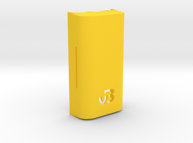 DNA200 Premium case - Extended back in Yellow Processed Versatile Plastic