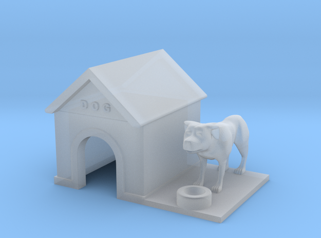 Doghouse With Dog - HO 87:1 Scale