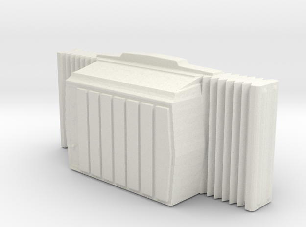 Window AC Unit - HO 87:1 Scale in White Natural Versatile Plastic