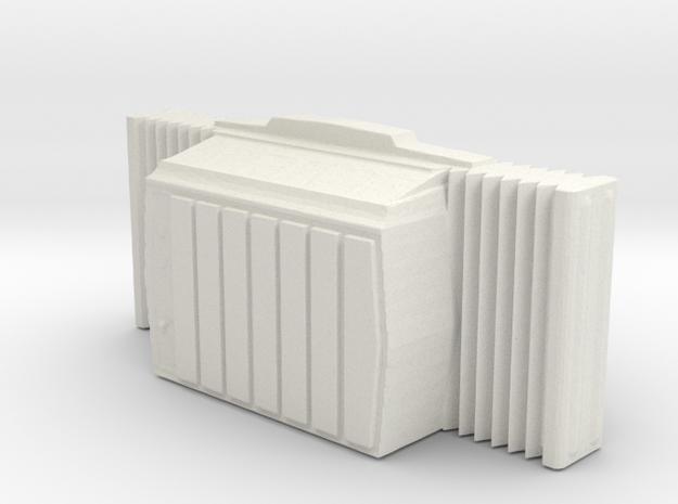 Window AC Unit - HO 87:1 Scale in White Natural Versatile Plastic