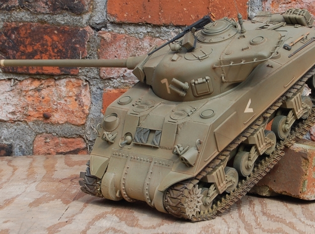 1/16 M4 Sherman Small Hatch Conversion in White Natural Versatile Plastic