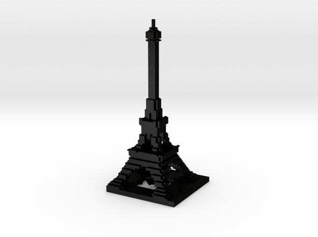 Detail Minecraft Eiffel 3d printed