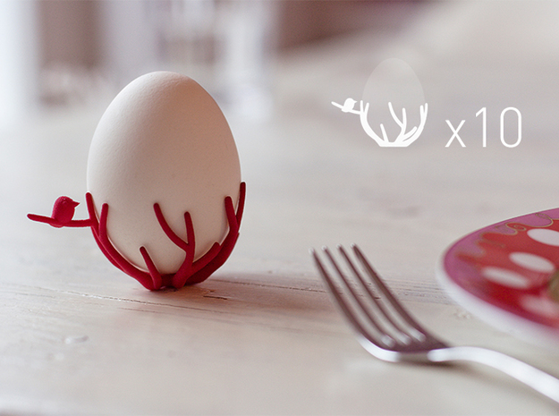birdsnest-eggcup-reseller-pack 3d printed set of 10 eggcups for resellers