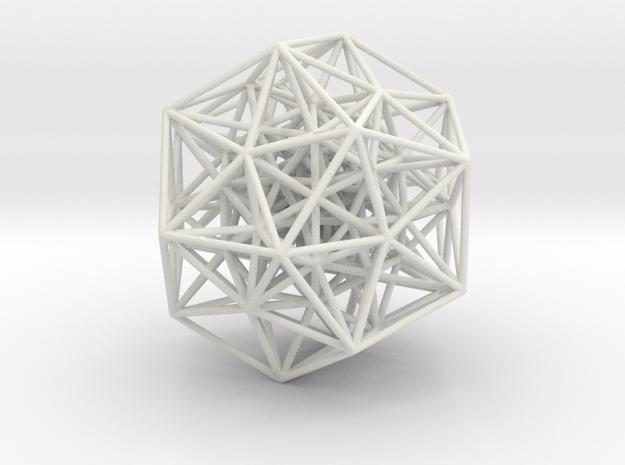 600-cell, partial, 606 edges in White Natural Versatile Plastic