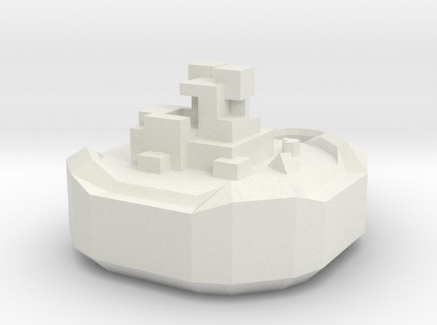 Pendant Cubes 01 in White Natural Versatile Plastic