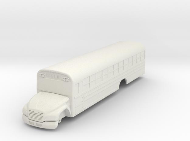 Blue Bird Vision Bus in White Natural Versatile Plastic