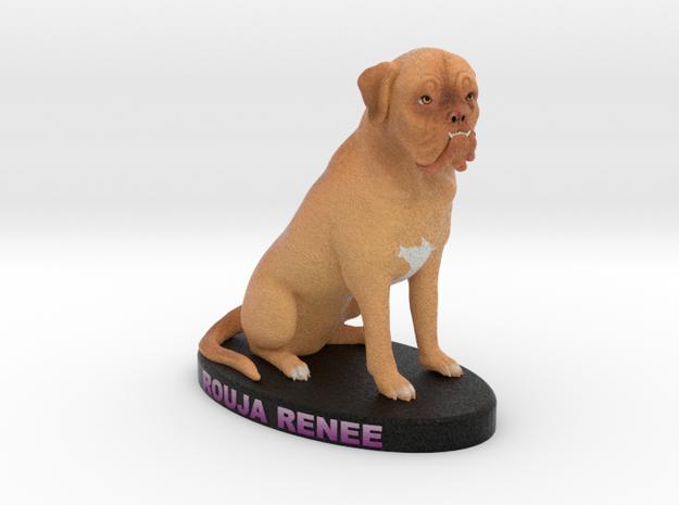 Custom Dog Figurine - Rouja in Full Color Sandstone