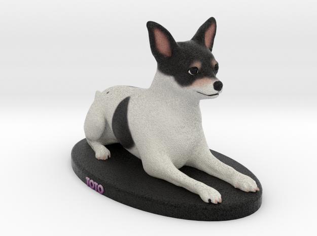 Custom Dog Figurine - TOTO in Full Color Sandstone