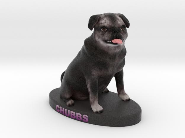 Custom Dog Figurine - Chubbs in Full Color Sandstone