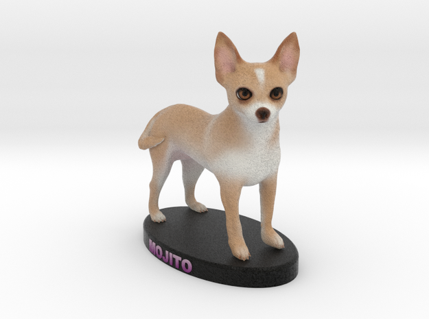 Custom Dog Figurine - Mojito in Full Color Sandstone