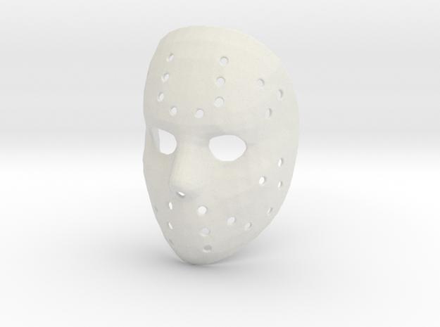 Jason Voorhees Mask in White Natural Versatile Plastic