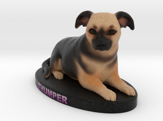 Custom Dog Figurine - Thumper in Full Color Sandstone
