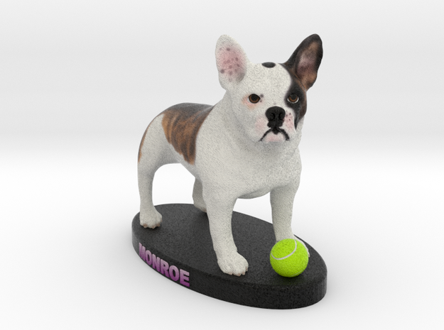 Custom Dog Figurine - Monroe in Full Color Sandstone