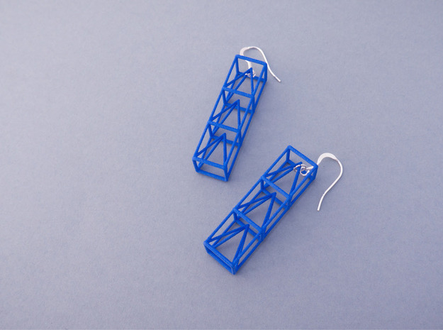 Space Earrings #02 in Black Natural Versatile Plastic