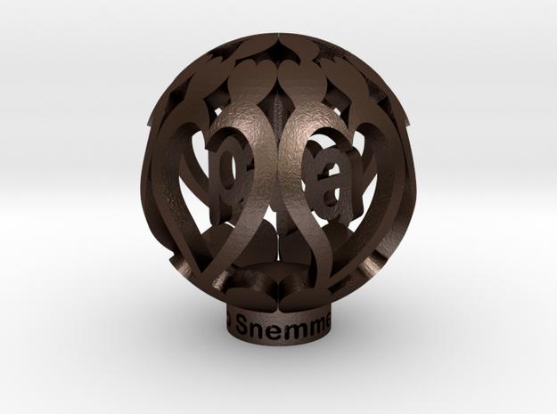 Youralwaysinmyhart Papa Staand 3cm Model in Matte Bronze Steel