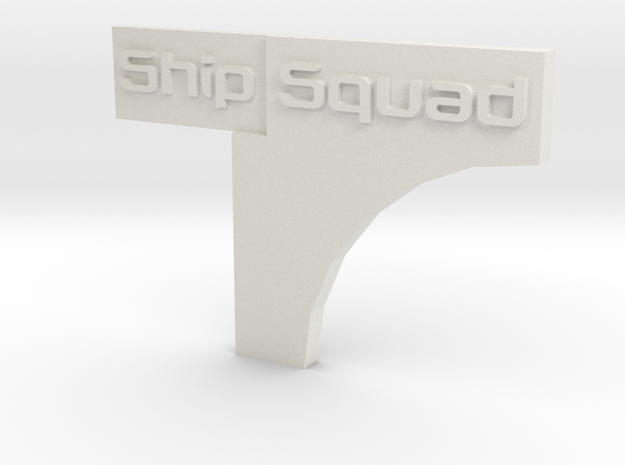 Star Wars Armada Placement Marker in White Natural Versatile Plastic
