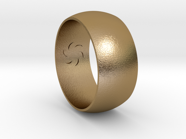 Ring Of Void 0.8in in Polished Gold Steel