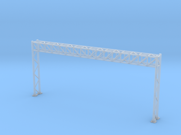 N Scale Highway Sign Gantry 96mm in Smooth Fine Detail Plastic