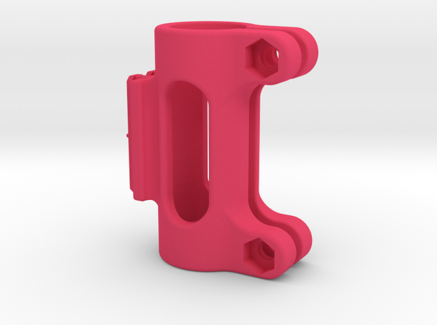 "Contour T-Rail 5/8"" Pipe/Pole Mount Style 1 in Pink Processed Versatile Plastic"