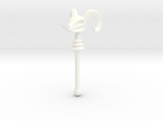 Skeletor's Havoc Staff scaled for Lego in White Strong & Flexible Polished