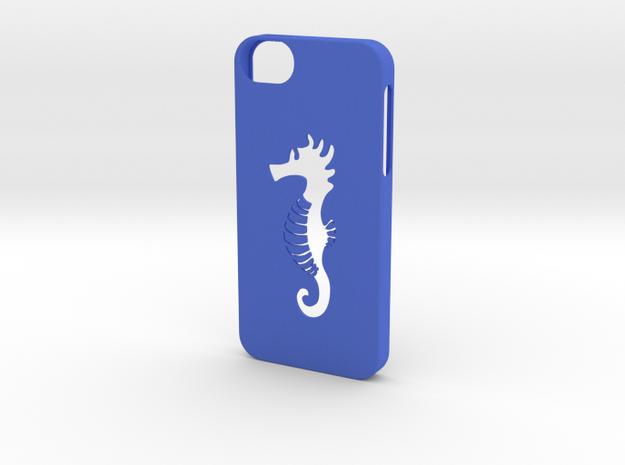 Iphone 5/5s hippocampus case in Blue Processed Versatile Plastic