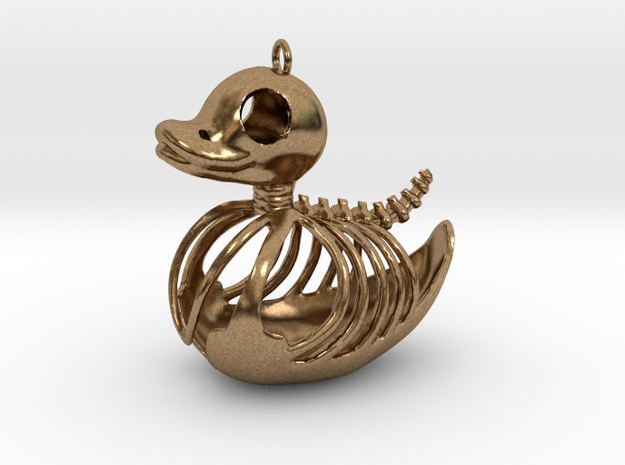 Rubber Duck Skeleton in Raw Brass
