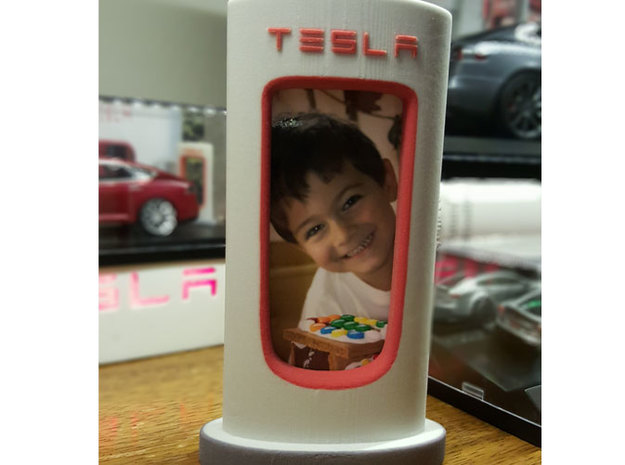 Tesla Supercharger Picture Frame