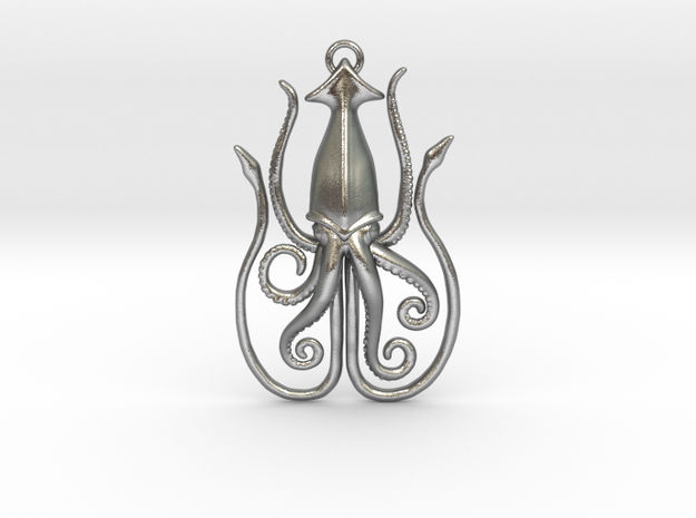 Kraken in Raw Silver