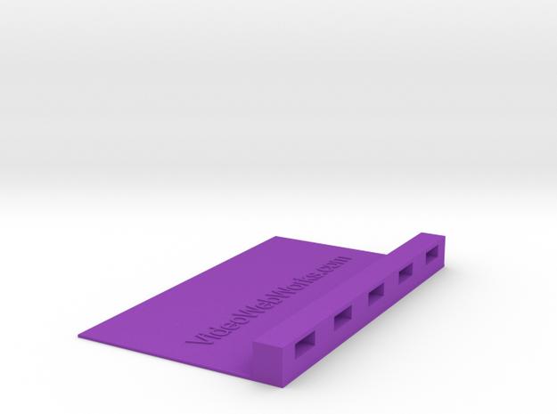 USB Device 3x5 Index Card Holder in Purple Processed Versatile Plastic