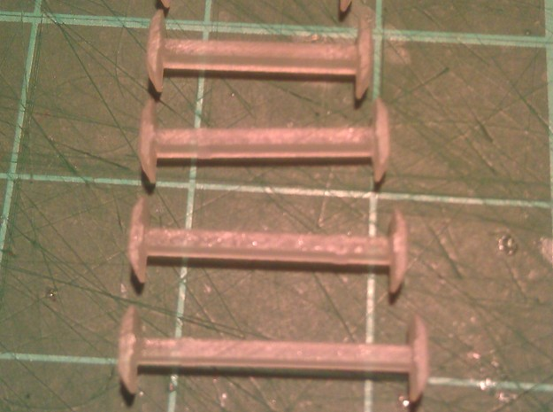 N Scale 12mm Fixed Coupling 3d printed Range of Couplings - 9mm to 14mm