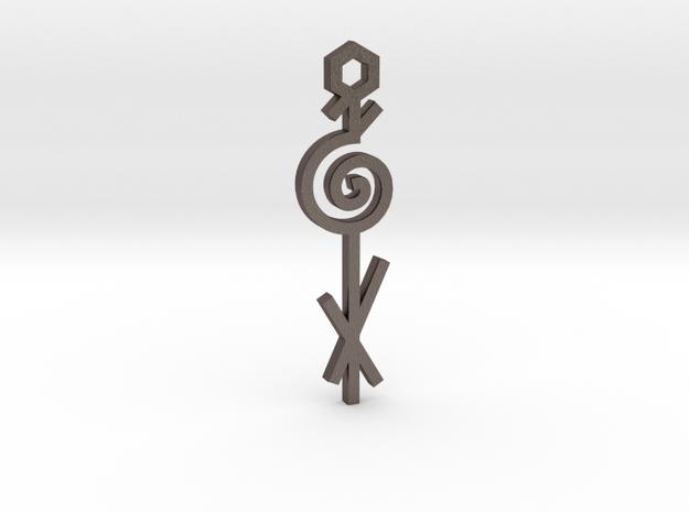 Spiral / Espiral in Polished Bronzed Silver Steel