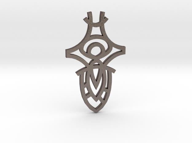 Eye Sword / Espada Ojo in Polished Bronzed Silver Steel