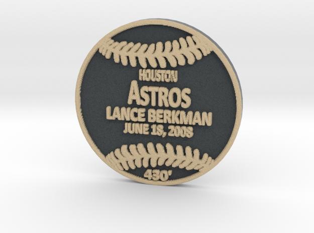Lance Berkman in Full Color Sandstone