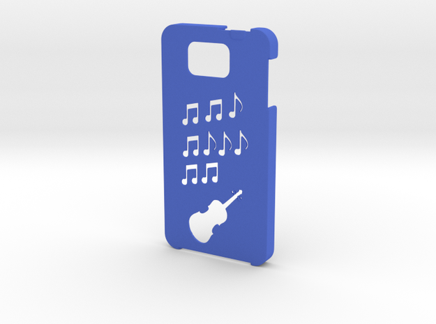 Samsung Galaxy Alpha Music case in Blue Strong & Flexible Polished
