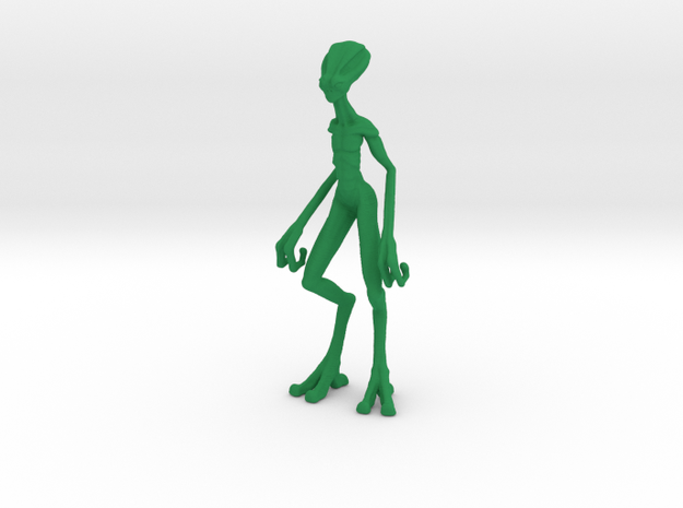 Alien Biped in Green Processed Versatile Plastic