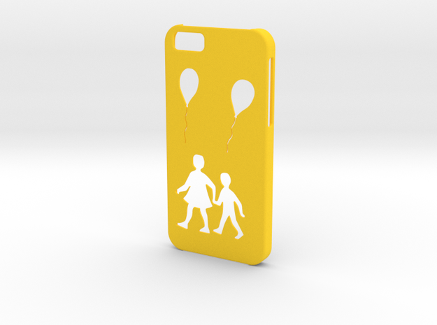 Iphone 6 Balloon case in Yellow Processed Versatile Plastic