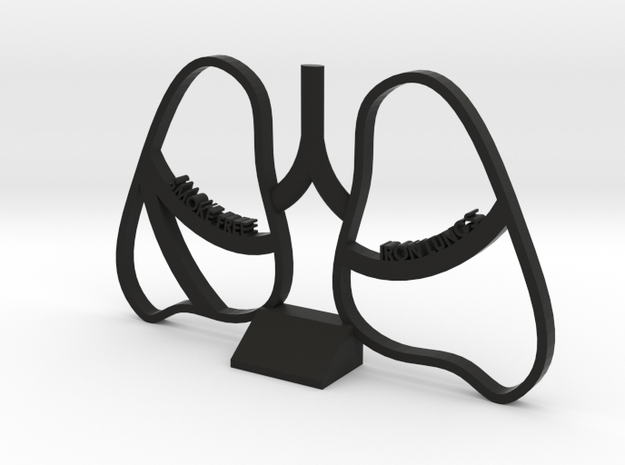 Smoke Free Lungs - Quitting Smoking Trophy in Black Strong & Flexible