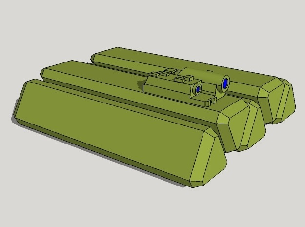 15mm Antitank Guided Missile (ATGM) Turret 3d printed