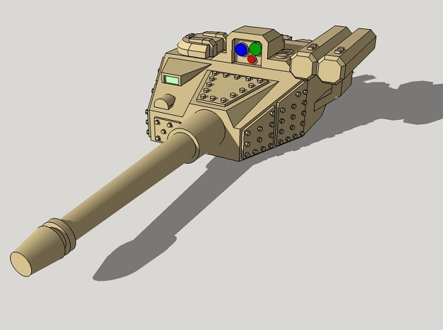 15mm Sci-Fi IFV Turret in Smooth Fine Detail Plastic