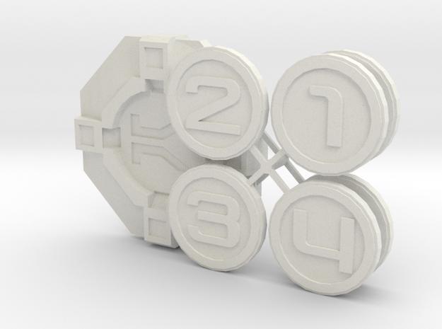 Star Wars Armada Round Token  in White Natural Versatile Plastic