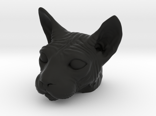 Spinx Cat Head Model in Black Strong & Flexible