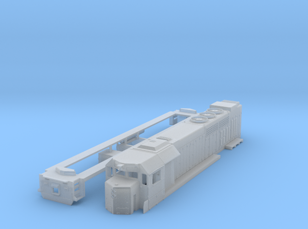 GP40tc locomotive in 1:160 scale in Smooth Fine Detail Plastic