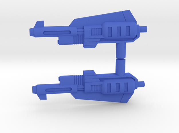 Snarl Action master guns 2X Los in Blue Strong & Flexible Polished