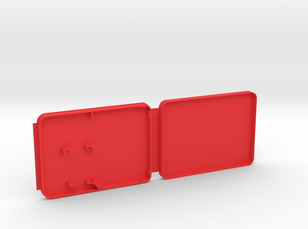 Micro & Mini SD Card Case in Red Processed Versatile Plastic