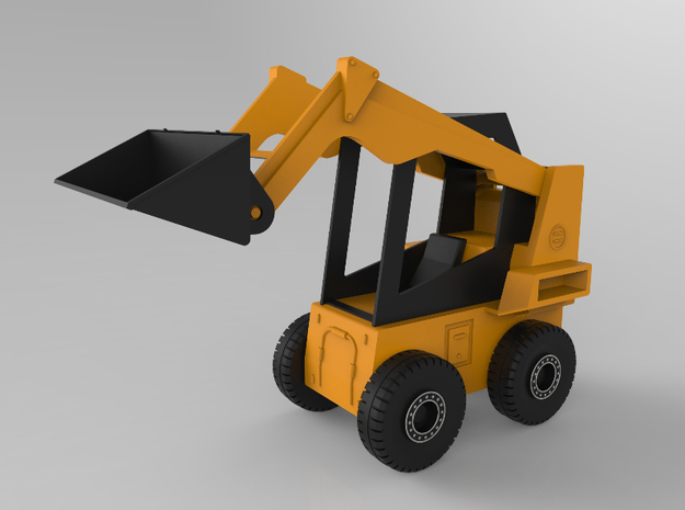 Bobcat Loader (1:20 Scale) in White Strong & Flexible